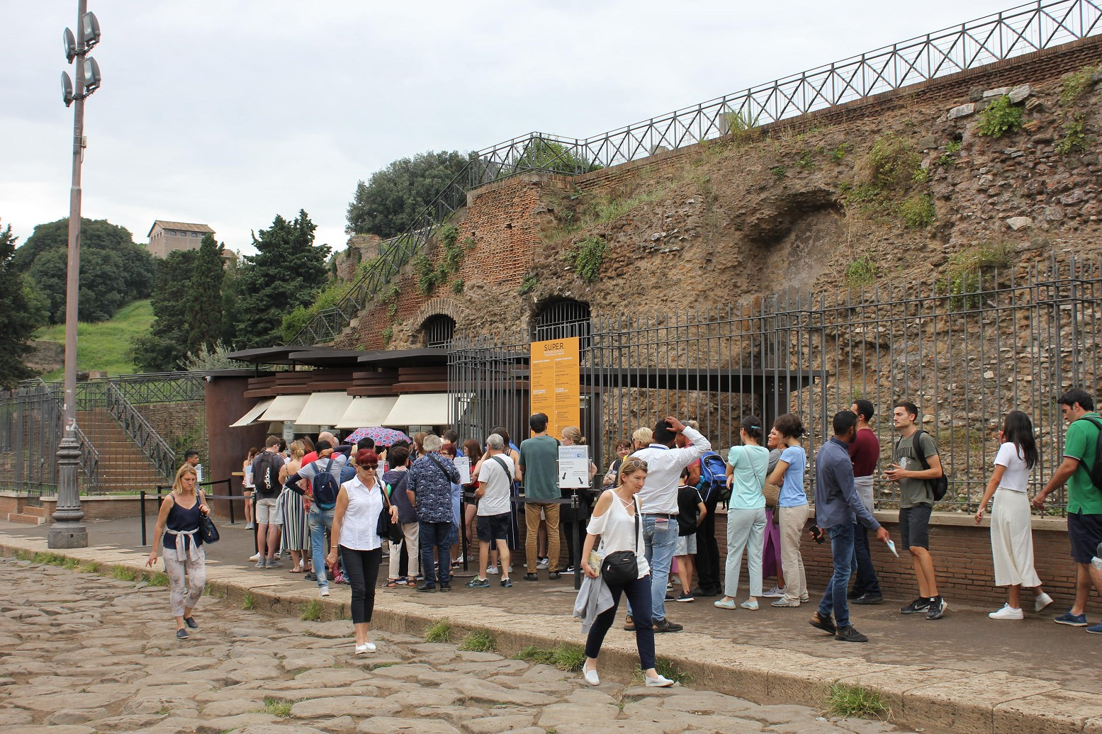 palatine hill tickets booth