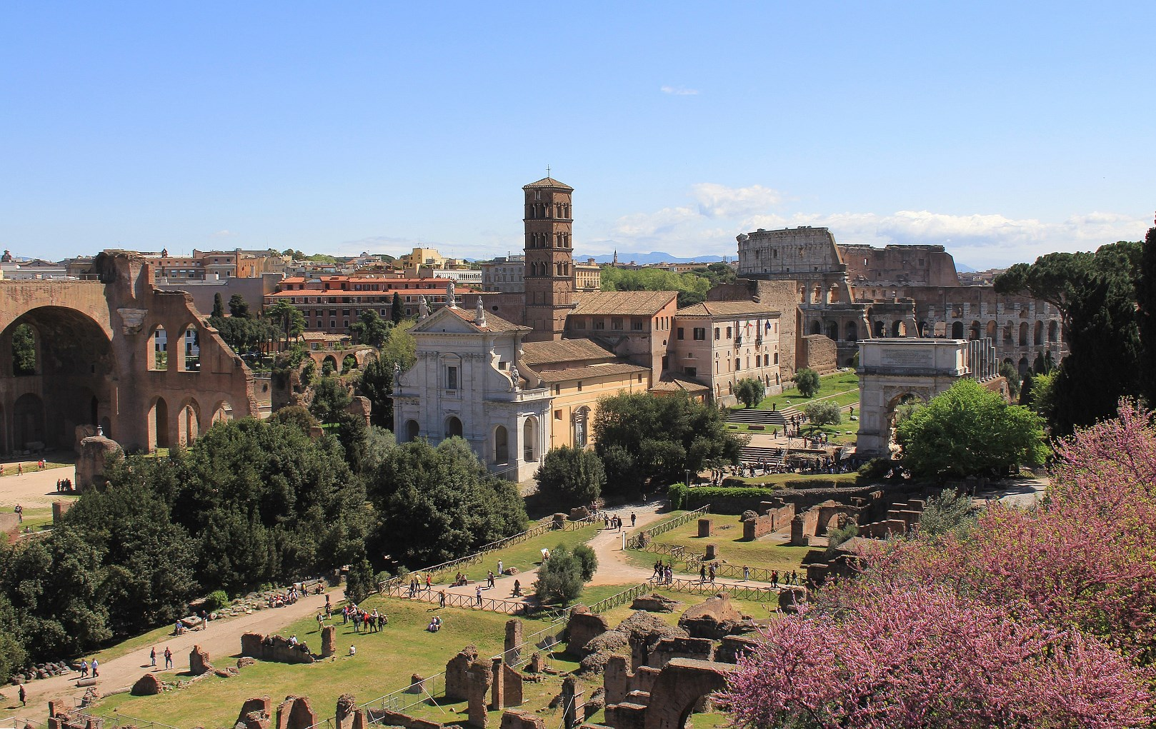 Colosseum by your own way Palatine Hill Rome