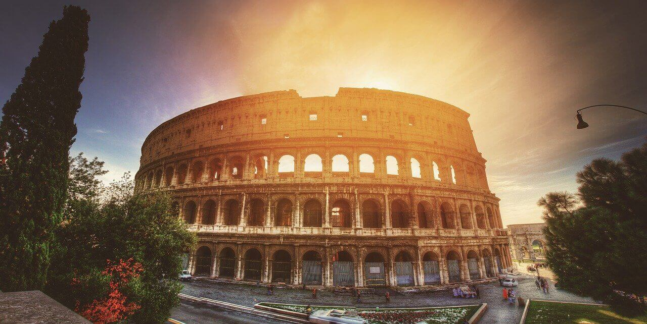 The Colosseum Rome evening