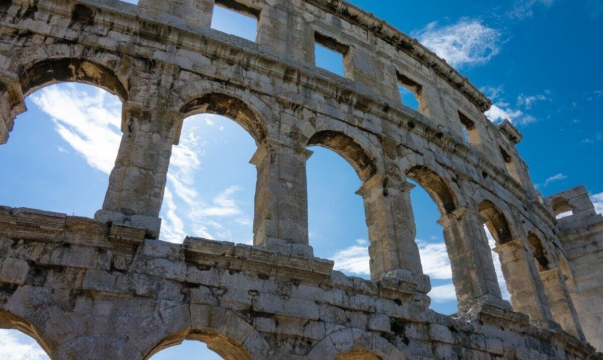 The history of Colosseum Rome