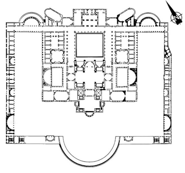 Floor plan baths of Trajan