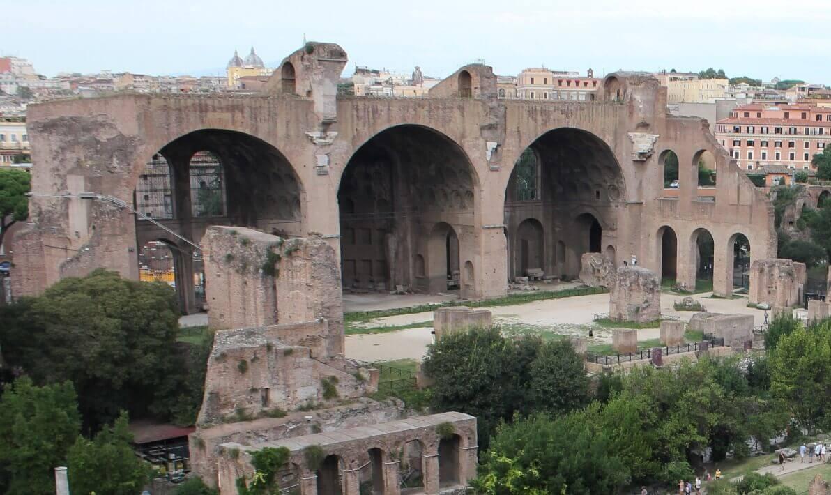 Basilica Maxentius Architecture and contruction