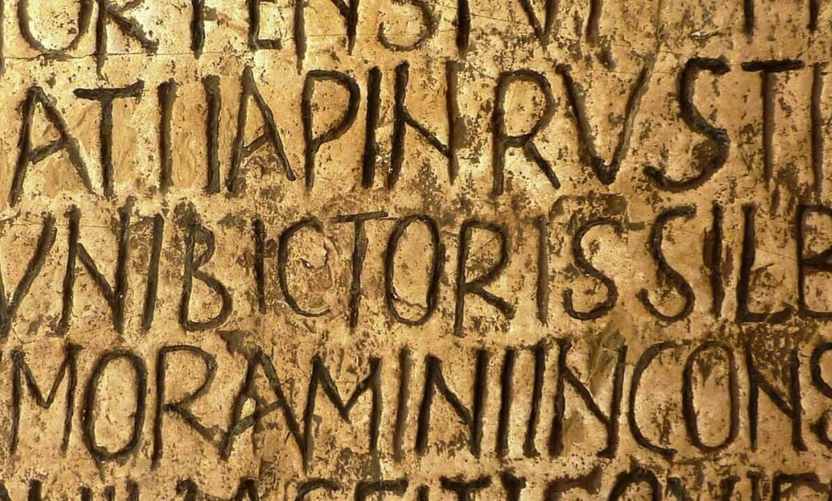 Inscription on the Lapis Niger stone