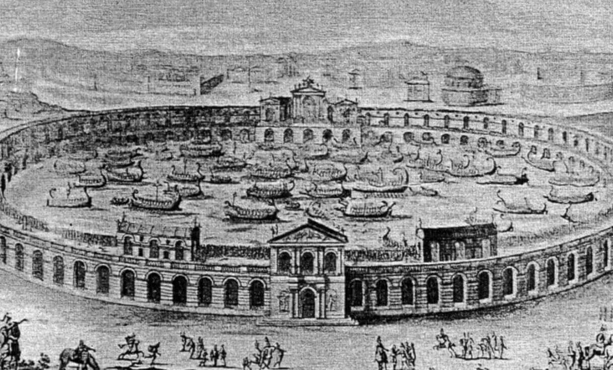 The history of Naumachia